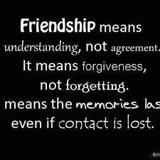 friendship means understanding not agreement friendship quote