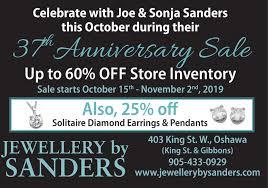 WEDNESDAY, OCTOBER 16, 2019 Ad - Jewellery By Sanders - Durham Region
