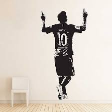 Lionel Messi Barcelona Football Player Vinyl Wall Art Decal