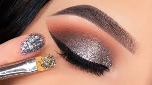pressed glitter on eyes