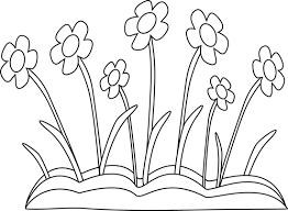 white spring flower patch clip art