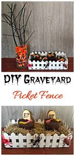 Graveyard Picket Fence Diy Halloween Table Decoration Centerpiece
