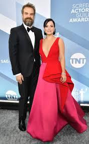 David Harbour and Lily Allen Make Red Carpet Debut at 2020 SAG ...