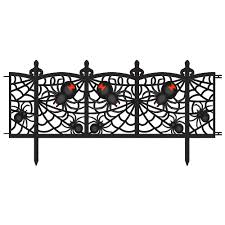 Spider Fence Yard Decorations 2ct Party City