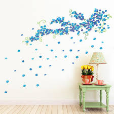 Large Blue Plum Blossom Wall Art Mural Decor Living Room Bedroom Home Decor Wall Decal Sticker Wall Art Applique Graphic Poster Wall Sticker Quotes Wall Stickers From Magicforwall 10 05 Dhgate Com