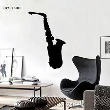 Joyreside Music Wall Saxophone Decal Vinyl Sticker Art Decor Home Interior Kid Living Room Bedroom Design Murals Decoration A169 Wall Stickers Aliexpress