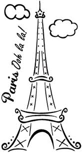 Amazon Com Boodecal Paris Ooh La La Eiffel Tower Quotes Wall Decals Lettering Black Vinyl Stickers For Girls Bedroom Living Room Home Kitchen