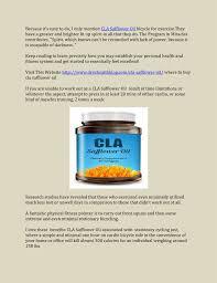 cla safflower oil weight loss