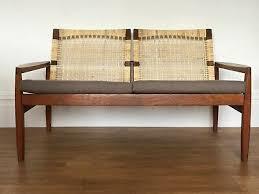 hans olsen teak and cane danish sofa