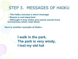 exles of haiku poems