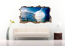 3d Surfer In The Crystal Sea Wall Decal Krafmatics