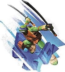 Amazon Com 5 Inch Leo Katana Swords Leonardo Blue Turtle Tmnt Teenage Mutant Ninja Turtles Movie Removable Peel Self Stick Wall Decal Sticker Art Kids Room Home Decor Boys Room 5 Inch X