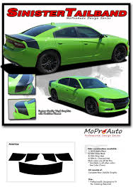 Sinister Tailband Dodge Charger Trunk Stripes Daytona Hemi Srt 392 Decklid Vinyl Graphic Decals Kit 2015 2020 Moproauto Professional Vinyl Graphics And Striping