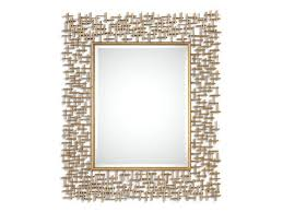 rectangular beveled wall mirror with