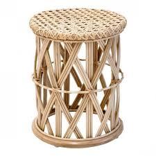 stool natural rattan natural color