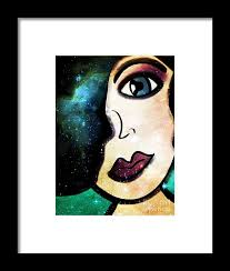 Tala - Goddess of Stars Framed Print by Angelica Smith Bill
