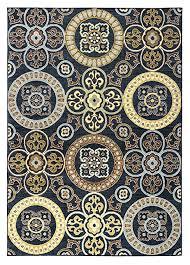 black gray rust blue medallion area rug