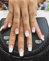 white tip coffin nails new expression