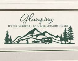 Glamping Rv Decal Rv Camper Decal Motorhome Decal Motor Home Decal Rv Vinyl Decal