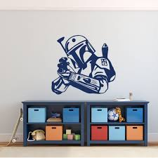 Amazon Com Jango Fett Wall Decor Star Wars Wall Decor Personalized Vinyl Decal For Boy S Bedroom Gameroom Or Playroom Handmade