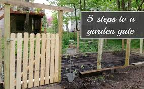 A Garden Gate In 5 Easy Steps Joy 2 Journey Small Garden Gates Diy Garden Fence Garden Gates