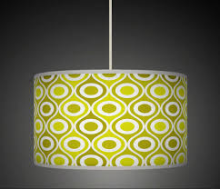 lime olive green geometric lampshade