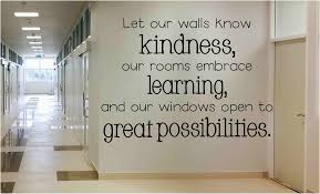 Let Our Walls Know Kindness School Wall Decal Vinyl Wall Expressions