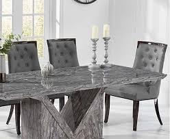 mocha 180cm grey marble dining table