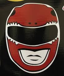 Power Rangers Red Power Ranger Helmet Vinyl Decal Bitchen Stickerz
