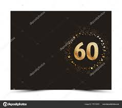 60 Years Anniversary Decorated Greeting Invitation Card Template