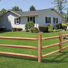 Unbranded 2 In X 4 In X 8 Ft Western Red Cedar Wood Split Rail Fence Post 116966 The Home Depot