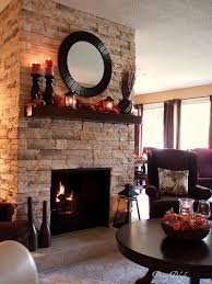fall mantel fireplace makeover home