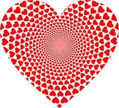 falling hearts png picture 2222198