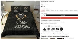 a george floyd themed bedding set