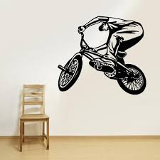 Wall Vinyl Decal Sticker Bedroom Decal Sport Cycle Bmx Bike Bicycle Z2 Stickersforlife