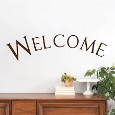 welcome wall quote entrance welcome decal sticker interior