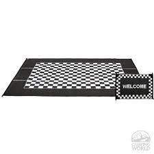 reversible checd racing patio mat