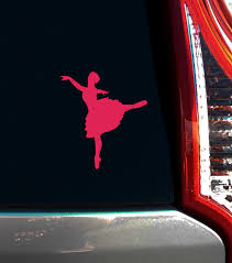 Ballet Dancer Arabesque Window Decal