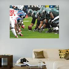 Eagles Giants Line Of Scrimmage Mural Philadelphia Eagles Nfl Philadelphia Eagles Sports Wall Decals Football Bedroom