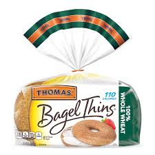 thomas whole wheat bagel thins made