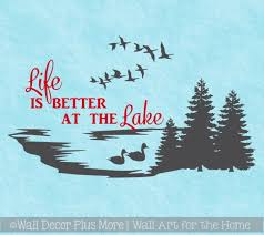 Life Is Better At The Lake Wall Decals Summer Quotes Camper Decor