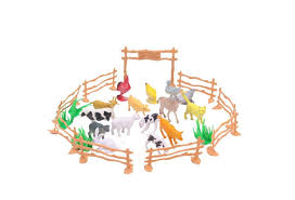 Hot Sale Kids Diy Toy 15pcs Set Plastic Farm Animals Toys Farm Poultry Feed Fence Simulation Model Animal Toy Wish