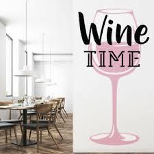 Wine Time Pink Glass Wall Decal Sticker Ws 46274 Ebay