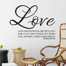 Romans 5v8 Vinyl Wall Decal 2 While We Were Still Sinners Christ Died For Us