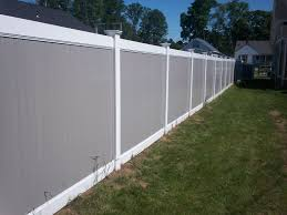 Want To Add A Little Twist To Your Standard Vinyl Fence Check Out Our 6 High Vinyl Privacy Fence With A Whi Vinyl Fence White Vinyl Fence Vinyl Privacy Fence