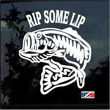 Rip Some Lip Fishing Decal Stickers Custom Sticker Shop