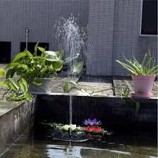 water fountain garden pump pond