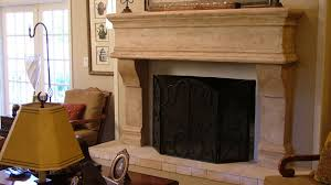 natural stone fireplace surround with