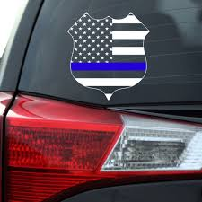 Thin Blue Line Police Flag Decal Southern Caliber Decals