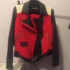 lefties black biker jacket depop